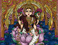 Vidya Lakshmi - Illustration