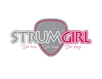 StrumGirl Logo Design