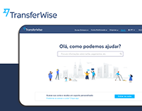 TransferWise Support page for desktop case study