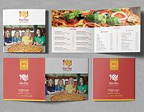 Pizza Place Square Bifold Brochure