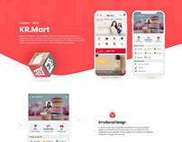 KR Mart - eCommerce Mobile App Design