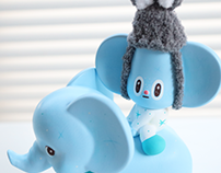blue elephant riding starfy