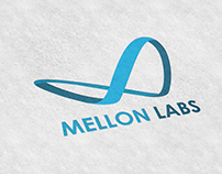 Blue themed 'infini' logo design for Mellon Labs