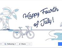 Citi Bike Jul 4th Social Media Animation