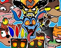 Crash Bandicoot sticker pack