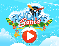 FlyDive Santa Game art