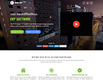 ERP Software landing page