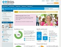 BlueCross BlueShield PHR Site