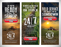 Commercial Tire Ag Pull Up Banners