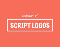 Script logo selection