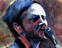 John Frusciante painting