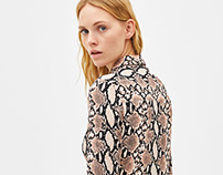 Snake print for Bershka