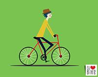 Posteres para o livro Eu Amo Bike