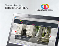 Retail Interior Fabric's website, Moscow