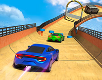 MEGA RAMP CAR STUNTS RACING