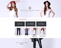 Genade Clothing Web Design