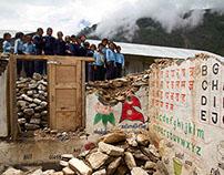 Earthquake Damaged School on the Nepal/Tibetan Border