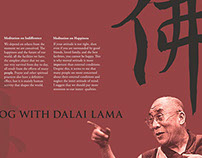 Dalai Lama Event Brochure Design