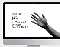 Portfolio website design with gesture