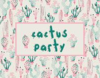 Pattern - Cactus Party! / Festa de Cactos!