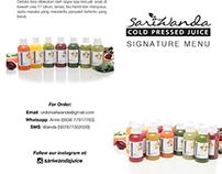 Sariwanda Coldpressedjuice Leaflet