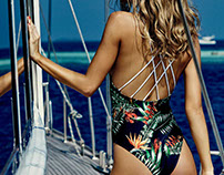 The Bazaar Swim & Resort-wear Tropical Print