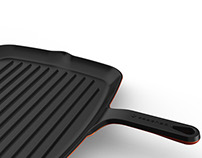 Light and easy Cast iron grill pan