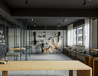 Chill room with kitchen. CLMAP GmbH. FAKLOVA.