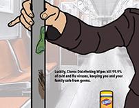 CLOROX DISINFECTING WIPES PRINT AD