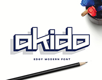Akido Edgy Modern Font