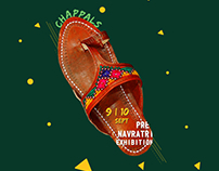 Pre - Navratri Posters for craftroots exhibition. Save