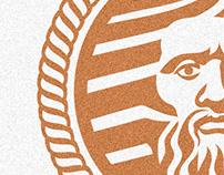 "Logo "" Poseidon-God of seas and oceans"""