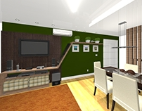 PROJETO: sala de estar de um jovem casal