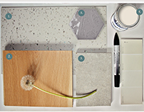 Flooring&Wall covering design concept