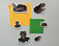 Animal stickers and fridge magnets