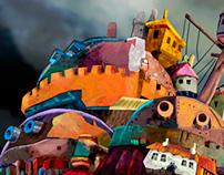 Holwl´s moving castle homage