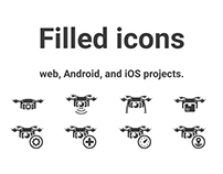 Filled icons (Free Download)