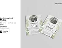 Anniversary Card Mockup