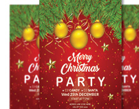 Merry Christmas Party Flyer and Poster