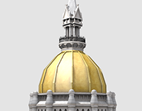 Connecticut State Capitol Dome - 3DS MAX