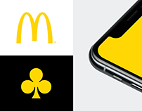 McDonald's fast delivery app concept