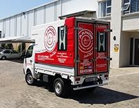 Aands Coffee Delivery Vehicle Branding