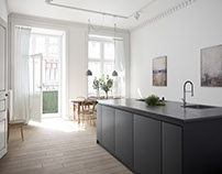 Visualization of an apartment in Gothenburg