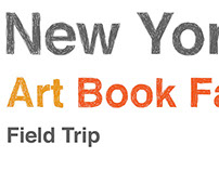 'New York Art Book Fair Field Trip' Poster Design
