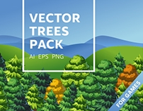 Vector trees set for your games