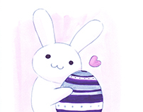 Cute Bunny in Watercolor