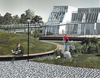 Projekt koncepcyjny architektoniczny mediateki