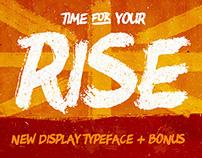 RISE • Brush typeface