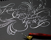 Frederic Chopin Preludes Calligraphy