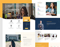 Edubird - Education Related Home page design